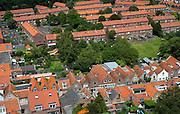 Uitzicht vanaf de 62 meter hoge Sint-Lievensmonstertoren, de dikke toren, in Zierikzee, Zeeland - View from the Sint-Lievensmonstertower  which is 62 meters high, in Zierikzee, Zeeland, Netherlands