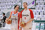 DESCRIZIONE : Campionato 2014/15 Serie A Beko Dinamo Banco di Sardegna Sassari - Grissin Bon Reggio Emilia Finale Playoff Gara6<br /> GIOCATORE : Amedeo Della Valle Giovanni Pini<br /> CATEGORIA : Fair Play Before Pregame<br /> SQUADRA : Grissin Bon Reggio Emilia<br /> EVENTO : LegaBasket Serie A Beko 2014/2015<br /> GARA : Dinamo Banco di Sardegna Sassari - Grissin Bon Reggio Emilia Finale Playoff Gara6<br /> DATA : 24/06/2015<br /> SPORT : Pallacanestro <br /> AUTORE : Agenzia Ciamillo-Castoria/C.Atzori