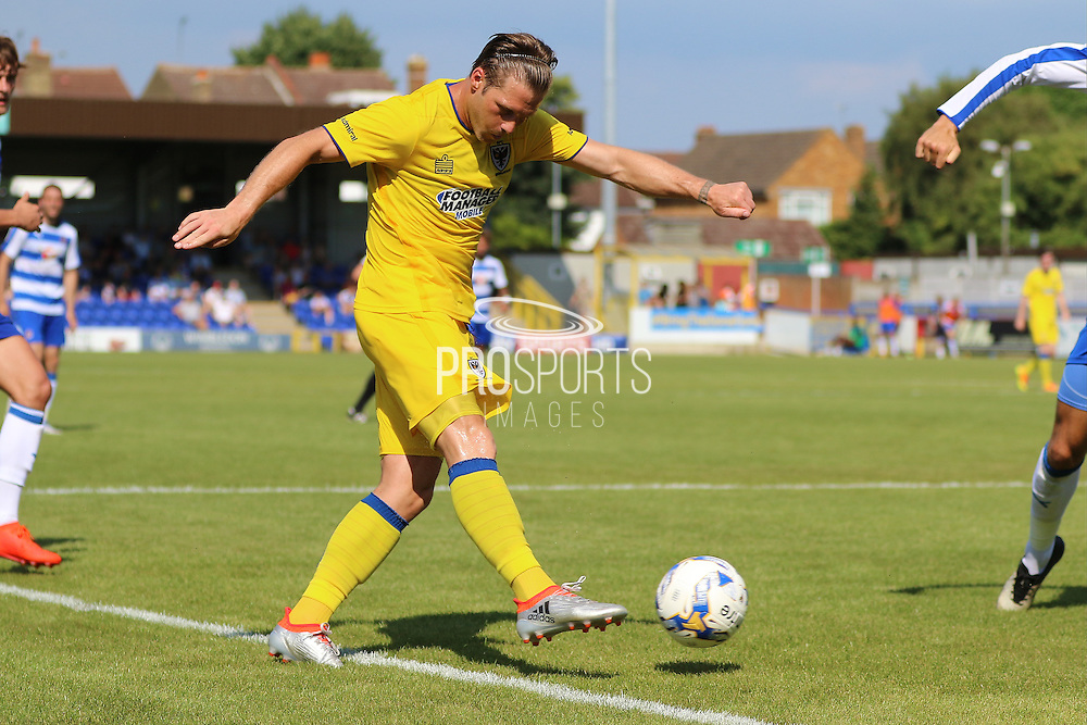 AFC Wimbledon midfielder Dannie Bulman (4) during the Pre-Season Friendly match between AFC Wimbledon and Reading at the Cherry Red Records Stadium, Kingston, England on 23 July 2016. Photo by Stuart Butcher.