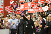 Meting of the opening of the election campaign of the Spanish Socialist Party (PSOE).