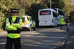 © Licensed to London News Pictures. 10/11/2014. The Jury in the trial of Colin Ash-Smith accused of the murder of schoolgirl Claire Tiltman in Greenhithe,Kent 21 years ago visit the site of the murder today 10th November 2014. <br /> (Byline:Grant Falvey/LNP)