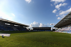A view of the stadium in play - Mandatory by-line: Arron Gent/JMP - 18/06/2020 - FOOTBALL - JobServe Community Stadium - Colchester, England - Colchester United v Exeter City - Sky Bet League Two Play-off 1st Leg