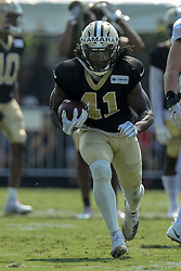 July 28, 2018 - Metairie, LA, U.S. - METAIRIE, LA. - JULY 28:  New Orleans Saints wide receiver Tommylee Lewis (11) runs through a drill during New Orleans Saints training camp practice on July 28, 2018 at the Ochsner Sports Performance Center in New Orleans, LA.  (Photo by Stephen Lew/Icon Sportswire) (Credit Image: © Stephen Lew/Icon SMI via ZUMA Press)