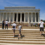 The Lincoln Memorial along the National Mall in Washington DC.