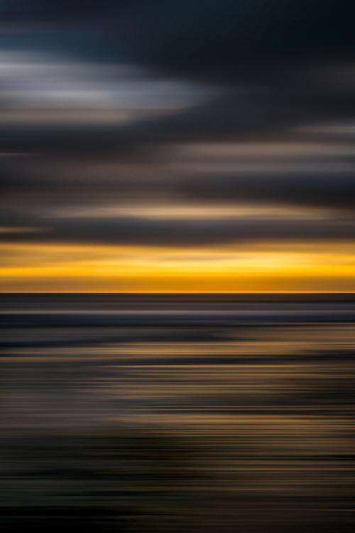 LIGNES 38 Abstracted sunset at Swamis Beach in Encinitas, San Diego, California.
