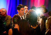 """U.S. Speaker of the House Paul Ryan (R-WI) meets with an attendee during an """"Election Night event"""" in Janesville, Wisconsin, U.S. November 8, 2016. REUTERS/Ben Brewer"""