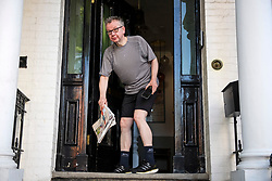 © Licensed to London News Pictures. 20/06/2019. London, UK. MICHAEL GOVE MP is seen jogging at his London home the morning after surviving the latest round of voting in the conservative leadership race.. Further candidates are expected to drop out of the race to be the next Prime Minister over the next two days, leaving two, in a series of votes held by Conservative MPs at   Parliament. Photo credit: Ben Cawthra/LNP