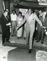 1967 Sidney Poitier's hand and footprint ceremony at the Chinese Theatre