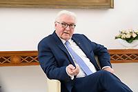 02 FEB 2021, BERLIN/GERMANY:<br /> Frank-Walter Steinmeier, Bundespraesident, waehrend einem Interview, Robert-Blum-Saal, Schloss Bellevue<br /> IMAGE: 20210202-01-004<br /> KEYWORDS: BUndespräsident