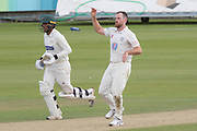 Ben Raine bowling during the Specsavers County Champ Div 2 match between Durham County Cricket Club and Leicestershire County Cricket Club at the Emirates Durham ICG Ground, Chester-le-Street, United Kingdom on 19 August 2019.