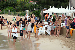 """File picture of Ryan Secrets at Nikki Beach enjoying St Barts lifestyle. The island was a paradise until September 6, 2017. Hurricane Irma left a trail of """"absolute devastation"""", destroying houses, snapping trees and killing at least eight persons as it tore across the tiny Caribbean island of St Barts on Wednesday with 185-mile-per-hour winds. Photo by Papixs/ABACAPRESS.COM"""
