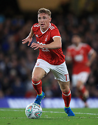 """Nottingham Forest's Ben Osborn during the Carabao Cup, Third Round match at Stamford Bridge, London. PRESS ASSOCIATION Photo. Picture date: Wednesday September 20, 2017. See PA story SOCCER Chelsea. Photo credit should read: Mike Egerton/PA Wire. RESTRICTIONS: EDITORIAL USE ONLY No use with unauthorised audio, video, data, fixture lists, club/league logos or """"live"""" services. Online in-match use limited to 75 images, no video emulation. No use in betting, games or single club/league/player publications."""