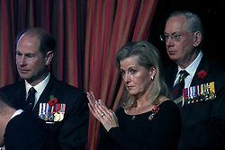 The Earl and Countess of Wessex attend the annual Royal British Legion Festival of Remembrance at the Royal Albert Hall in Kensington, London.