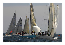 Bell Lawrie Scottish Series 2008. Fine North Easterly winds brought perfect racing conditions in this years event..Classes 2 & 3 at the windward mark with GBR270 Ski and IRL 33333 Contango