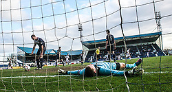Falkirk's keeper Michael McGovern after Raith Rovers John Baird scored their first goal.<br /> Raith Rovers 2 v 4 Falkirk, Scottish Championship game today at Starks Park.<br /> © Michael Schofield.
