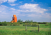 UGG grain elevator in rural landscape<br /> Stoughton<br /> Saskatchewan<br /> Canada