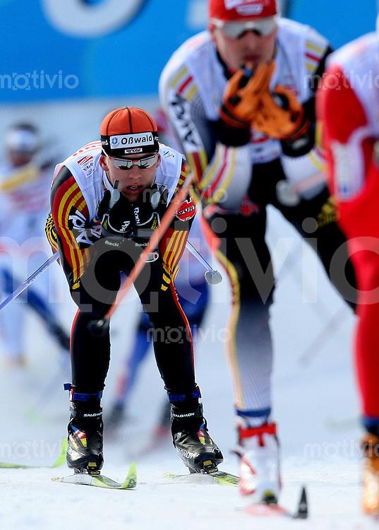 Sapporo , 240207 , Nordische Ski Weltmeisterschaft  Langlauf Verfolgung Maenner ,  Jens FILBRICH (GER)