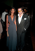 Rula Jebreal; JULIAN SCHNABEL, , The Global launch of the 2012 Pirelli Calendar by Mario Sorrenti.  Dinner at the Park Avenue Armory. Manhattan. 6 December 2011.