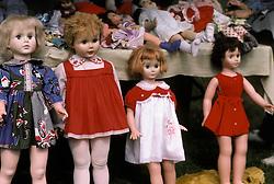 assorted assortment doll toys blonde brunette garage sale flea market