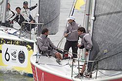 Pre start action between Mathieu Richard and Bjorn Hansen during qualifying session 1 at Korea Match Cup 2013. Gyeonggi Province, Korea. 29 May 2013 Photo: Subzero Images/AWMRT