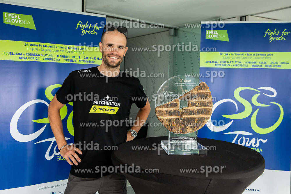 Luka Mezgec during press conference of cycling race Tour od Slovenia 2019 1 day before the competition, on June 18, 2019 in Ljubljana's castle, Ljubljana, Slovenia. Photo by Vid Ponikvar / Sportida