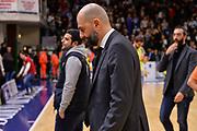 Maurizio Buscaglia<br /> Banco di Sardegna Dinamo Sassari - Dolomiti Energia Aquila Trento<br /> Legabasket serie A LBA PosteMobile 2017/2018<br /> Sassari, 07/01/2018<br /> Foto L.Canu / Ciamillo-Castoria
