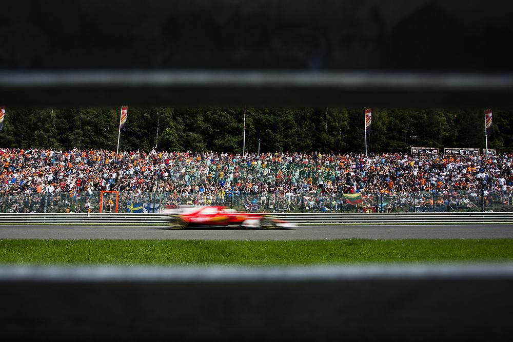 August 27, 2017 - Spa, Belgium - 05 VETTEL Sebastian from Germany of scuderia Ferrari passing trought the fans  during the Formula One Belgian Grand Prix at Circuit de Spa-Francorchamps on August 27, 2017 in Spa, Belgium. (Credit Image: © Xavier Bonilla/NurPhoto via ZUMA Press)