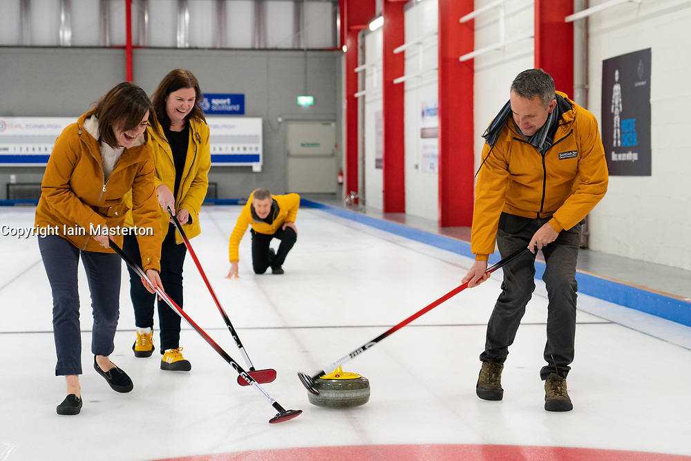 Edinburgh, Scotland, UK. 29th November 2019. Scottish Liberal Democrat Leader Willie Rennie was joined by Liberal Democrat MP candidates to launch the party's General Election manifesto at the Edinburgh Curling Rink.  Iain Masterton/Alamy Live News.