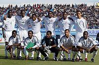 Fotball<br /> African Nations Cup 2004<br /> Foto: Digitalsport<br /> Norway Only<br /> <br /> Nigeria<br /> <br /> 1/4 FINAL - 040208<br /> NIGERIA v KAMERUN<br /> <br /> TEAM NIGERIA ( BACK ROW LEFT TO RIGHT : SEYI OLONFINJANA / NWANKWO KANU / IFEANYI UDEZE / JOSEPH YOBO / ISAAC OKORONKWO / OSAZE ODEMWINGIE . FRONT ROW : GARBA LAWAL / AUGUSTINE OKOCHA  / VINCENT ENYEAMA / GEORGE ABBEY / JOHN UTAKA )