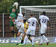Oxford United goalkeeper Sam Slocombe (1) claims a cross during the Sky Bet League 2 match between Oxford United and AFC Wimbledon at the Kassam Stadium, Oxford, England on 10 October 2015.