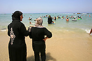 Fun and beach-days for Palestinian children who have never seen the sea. A day of activity for children from 4 to 15. Organized every summer for the past 5 years, by Israeli volunteers. Children from the west bank experience the sea for the first time, as well as other activities and are exposed to the Israeli public and way of life. Photographed On July 26, 2011 at the Bat-Yam beach.