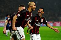Esultanza gol di Alex Milan 1-0. Celebration goal<br /> Milano 31-01-2016 Stadio Giuseppe Meazza - Football Calcio Serie A Milan - Inter. Foto Giuseppe Celeste / Insidefoto