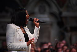 Alexandra Burke performs during the Commonwealth Service at Westminster Abbey, London on Commonwealth Day. The service is the Duke and Duchess of Sussex's final official engagement before they quit royal life.