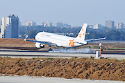 Israel, Ben-Gurion international Airport Israir passenger jet landing