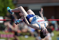 Abby Ward in the High jump during the Loughborough International Athletics Meeting at the Paula Radcliffe Stadium, Loughborough.