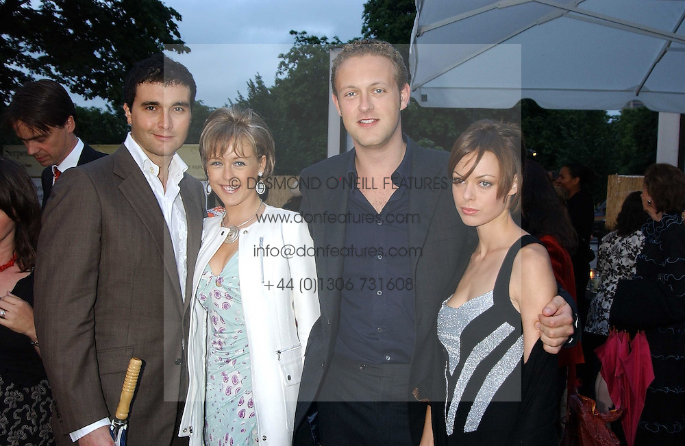 Left to right,DAVID PEACOCK, LADY ALEXANDRA SPENCER-CHURCHILL, LORD EDWARD SPENCER-CHURCHILL and MELISSA MILNE at the annual Serpentine Gallery Summer Party co-hosted by Jimmy Choo shoes held at the Serpentine Gallery, Kensington Gardens, London on 30th June 2005.<br /><br />NON EXCLUSIVE - WORLD RIGHTS