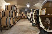wooden vats barrel aging cellar domaine fussiacus macon burgundy france