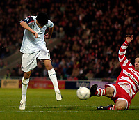 Photo: Jed Wee/Sportsbeat Images.<br />Doncaster Rovers v Bolton Wanderers. The FA Cup. 06/01/2007.<br /><br />Bolton's Idan Tal scores their third goal.