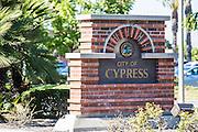 City of Cypress Brick Monument