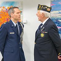 Lt Col Martin talking to Pat Mulcahy