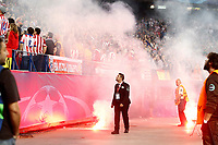Flares thrown into the field by fans of Benfica during Champions League 2015/2016 match. September 30,2015. (ALTERPHOTOS/Acero)
