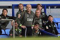 Photo: Paul Thomas.<br />Everton v Werder Bremen. Pre Season Friendly. 31/07/2007.<br /><br />Coach Thomas Schaaf of Bremen, watches on along with his bench.