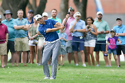 May 25, 2018 - Forth Worth, TX, U.S. - FORT WORTH, TX - MAY 25:  Jordan Spieth of the United States hits his approach shot to #7 low under tree branches during the second round of the Fort Worth Invitational on May 25, 2018 at Colonial Country Club in Fort Worth, TX. (Photo by Andrew Dieb/Icon Sportswire) (Credit Image: © Andrew Dieb/Icon SMI via ZUMA Press)