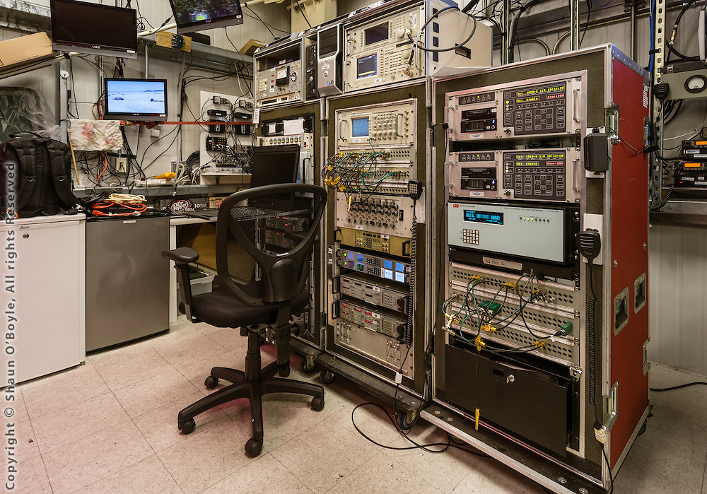 Inside the telemetry building, LDB
