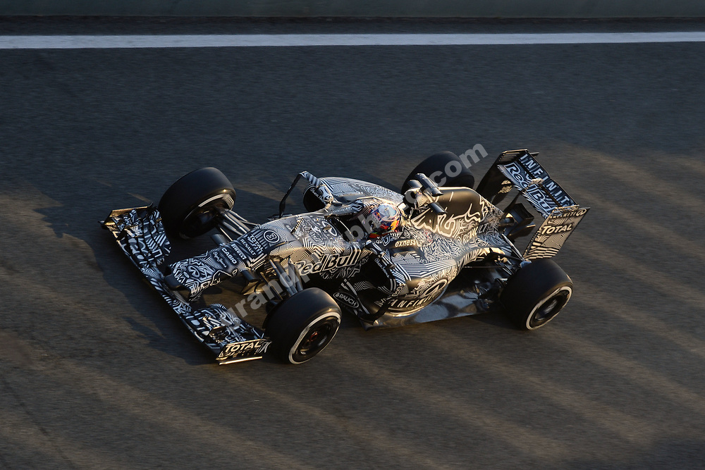 Daniel Ricciardo (Red Bull-Renault) seen from above during Formula 1 test in Jerez in early February 2015. Photo: Grand Prix Photo
