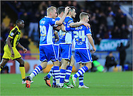Ian Henderson goal celebration during the Sky Bet League 1 match between Rochdale and Burton Albion at Spotland, Rochdale, England on 30 January 2016. Photo by Daniel Youngs.