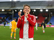 Sander Berge of Sheffield Utd applauds the fans during the Premier League match at Selhurst Park, London. Picture date: 1st February 2020. Picture credit should read: Paul Terry/Sportimage