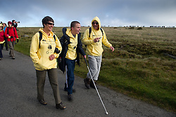 © licensed to London News Pictures. Okehampton, UK  14/05/2011 A young boy takes part in the Jubilee Challenge, where nearly 300 less able bodied youngsters complete a 15 mile trek over Dartmoor. Please see special instructions for usage rates. Photo credit should read London News Pictures