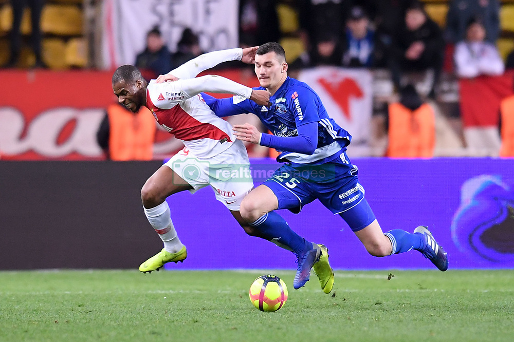 January 19, 2019 - Monaco, France - 25 LUDOVIC AJORQUE (STRA) - 19 DJIBRIL SIDIBE  (Credit Image: © Panoramic via ZUMA Press)