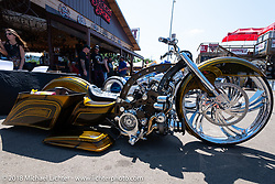 The Broken Spoke section of the Iron Horse Saloon before the Cycle Source ride on the 78th annual Sturgis Motorcycle Rally. Sturgis, SD. USA. Wednesday August 8, 2018. Photography ©2018 Michael Lichter.